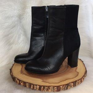 Sam Edelman leather side zip boots